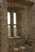 Carreg Cennen Castle Windows, Castell Carreg Cennen, Brecon Beacons National Park, Trapp, Llandeilo, Carmarthenshire, Wales, United Kingdom, Great Britain