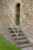 White Castle Staircase and Door, Castell Gwyn, Medieval Castle, Brecon Beacons National Park, Monmouthshire, Wales, United Kingdom, Great Britain
