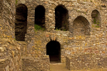 Windows, Kidwelly Castle, Castell Cydweli, Medieval Norman castle, Kidwelly, Carmarthenshire, Wales, United Kingdom, Great Britain