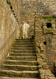 Staircase, Kidwelly Castle, Castell Cydweli, Medieval Norman castle, Kidwelly, Carmarthenshire, Wales, United Kingdom, Great Britain
