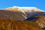 Snow Covered Mount Lafayette and Franconia Ridge from Bald Mountain in Autumn, Franconia Notch State Park, White Mountains, New Hampshire