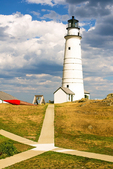 Pathway to Boston Light, First American Lighthouse, Little Brewster Island, Boston Harbor Islands, Massachusetts