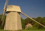 Old Higgins Farm Windmill, Harris-Black One-Room House, historic Smock windmill, Drummer Boy Park, Cape Cod, Brewster, Massachusetts