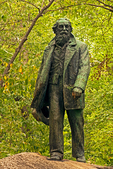 Poet Walt Whitman Statue, Full Body Bronze Sculpture, Bear Mountain State Park, New York