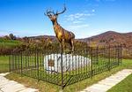 The Elk On The Trail statue, World War 1 Memorial, Whitcomb Summit, Mohawk Trail, Florida, Massachusetts