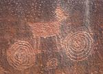 Fremont Culture Bighorn Sheep Petroglyph, Capitol Reef National Park, Fruita, Utah