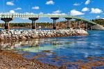Franklin Delano Roosevelt International Bridge, Connects Lubec, Maine, United States with Campobello Island, New Brunswick, Canada,
