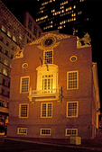 Old State House at Night, Massachusetts state capitol, Freedom Trail, Colonial Georgian Architectural Style, Boston, Massachusetts