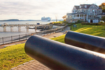 Historical Cannon, Harbor and Hotel, Bar Harbor, Mount Desert Island, Maine