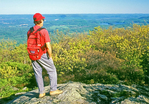 Hiker on Mt. Everett, Mount Everett State Reservation, Appalachian Trail, Berkshires, Mt. Washington, Massachusetts