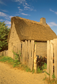 Plimoth Plantation Wooden Buildings, 17th Century Living Quarters, Plymouth, Massachusetts