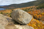 Bubble Rock, Glacial Erratic, Acadia National Park, Mount Desert Island, Maine
