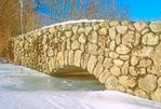 Stone Bridge in Winter, Ipswich River Wildlife Sanctuary, Massachusetts Audubon Society, Topsfield, Massachusetts