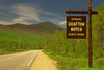 Entrance Sign and Park Road, Grafton Notch State Park, Newry, Maine