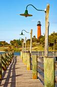 Jupiter Inlet Light, Historical 19th Century Lighthouse, Jupiter, Florida