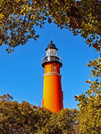 Ponce de Leon Inlet Light, Historical 19th Century Lighthouse, Ponce Inlet, Florida