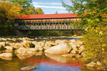 Albany Covered Bridge Over the Swift River, 19th Century Historic Bridge, Kancamagus Highway, White Mountains, New Hampshire