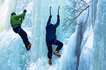 Ice Climbing in the Flume Gorge, Franconia Notch State Park, White Mountains, New Hampshire