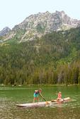 Paddleboarding on String Lake, Grand Teton National Park, Wyoming