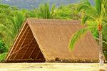 Honokohau Halau, Reconstructed Ancient Hawaiian Beach Shelter, Long House School, Kaloko-Honokohau National Historical Park, Kona, Big Island, Hawaiian Islands, Hawaii