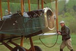 Pilot and Bi-Plane, Owls Head Transportation Museum, Rockland, Maine