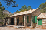 Wallace Pratt Cabin, McKittrick Canyon Trail, Guadalupe Mountains National Park, Texas