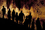 People in King's Palace Room, Carlsbad Caverns National Park, Carlsbad, New Mexico