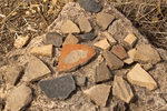 Potsherds, Ancestral Puebloan Pottery, Tsankawi Trail, Bandelier National Monument, New Mexico