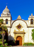 Carmel Spanish Mission, Mission San Carlos Borroméo del río Carmelo, 18th Century Spanish Franciscan Mission, Spanish Colonial Architectural Style, Roman Catholic Church, Carmel, California