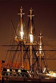USS Constitution at Night, Old Ironsides, Boston Harbor, Massachusetts