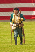 American Revolutionary Colonial Soldier Reenactor, Fort Independence, Castle Island, Boston, Massachusetts