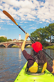 Kayaking on the Charles River, Boston Cambridge, Massachusetts
