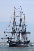 USS Constitution, Old Ironsides, Oldest Commisioned Warship Sailing in Boston Harbor, Massachusetts