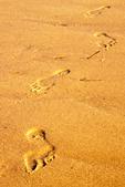 Footprints in Sand, Duck Harbor Beach, Cape Cod, Wellfleet, Massachusetts