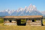 Cunningham Cabin, Double-Pen Log Cabin, Appalachian Building Form, Teton Mountain Range, Grand Teton National Park, Wyoming