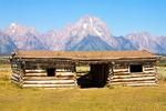Cunningham Cabin, Mount Moran, Teton Mountain Range, Grand Teton National Park, Wyoming