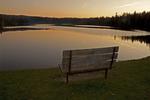 Park Bench at Sunset, Adams Reservoir, Woodford State Park, Bennington, Vermont