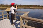 Photographer at Freshwater Marsh, Cape May Point State Park, Cape May Point, New Jersey