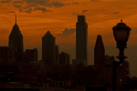 Philadelphia Skyline at Sunset, Philadelphia, Pennsylvania