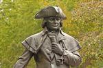 Robert Morris Monument, Bronze Statue by Paul Wayland Bartlet, Independence National Historical Park, Old City Neighborhood, American Revolution, Philadelphia, Pennsylvania
