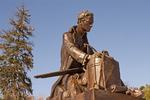 Thomas Paine Sculpture, Bronze Statue by Sculptor Georg J. Lober, Burnham Park, Morristown, New Jersey