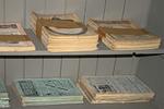 Magazines in Room 12 Main Laboratory, Thomas Edison National Historical Park, West Orange, New Jersey