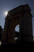 United States Memorial Arch Silhouette, National Memorial Arch, American Revolutionary War, Valley Forge National Historical Park, Pennsylvania