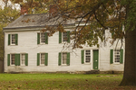 Thomas Clarke House Museum, 18th Century Colonial Architecture, White Clapboard Farm House, Battle of Princeton, Princetown Battlefield, American Revolutionary War, New Jersey