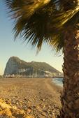 Rock of Gibraltar, Algeciras Bay, Viewed from La Linea de la Concepcion Spain, United Kingdom, Great Britain