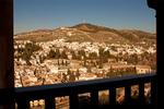 View of Granada from Palacio Nazaries, The Alhambra, Granada, Andalucia, Spain