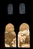 Oratorio in Mexuar Palace, View of Granada, Palacio Nazaries, The Alhambra, Granada, Andalucia, Spain