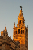 La Giralda, Bell Tower for the Cathedral of Seville, 12th Century Moorish Architecture, Sevilla, Andalucia, Spain