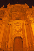 Granada Cathedral at Night, Cathedral of the Incarnation, 16th Century Architecture, Granada, Andalucia, Spain