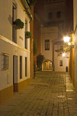 Barrio de Santa Cruz at Night, Jewish Quarter, Old Judería, Sevilla, Seville, Andalucia, Spain
